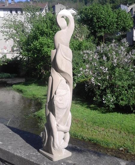 sculpture caméléon