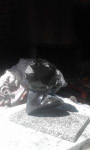sculpture marbre noir de golzinne