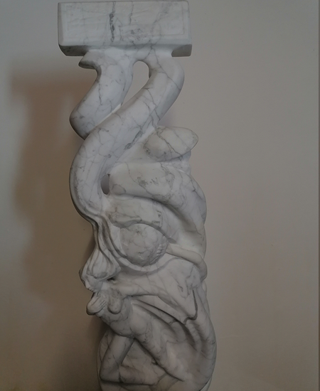 sculpture sur marbre de carrare yannick robert