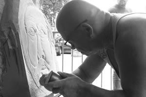sculpteur dans le tarn