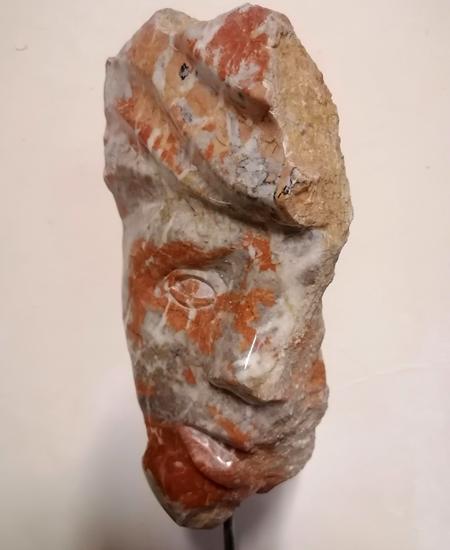 icare sculpture en marbre de l'artiste yannic robert